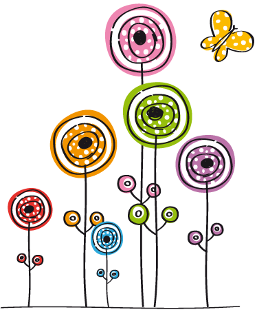Des Fleurs Et Des Papillons Arts And Crafts Flower Doodles