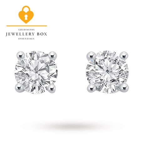 Diamond · For Her - 18ct White Gold 0.75ct Brilliant Cut Stud Earrings  12152326