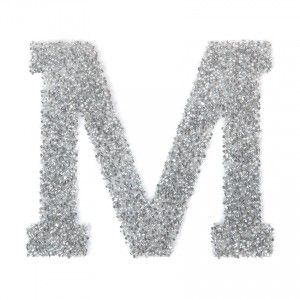 09ee8085a Swarovski Crystal Letter 'M' Self-Adhesive Fabric-It Transparent CAL Pk1