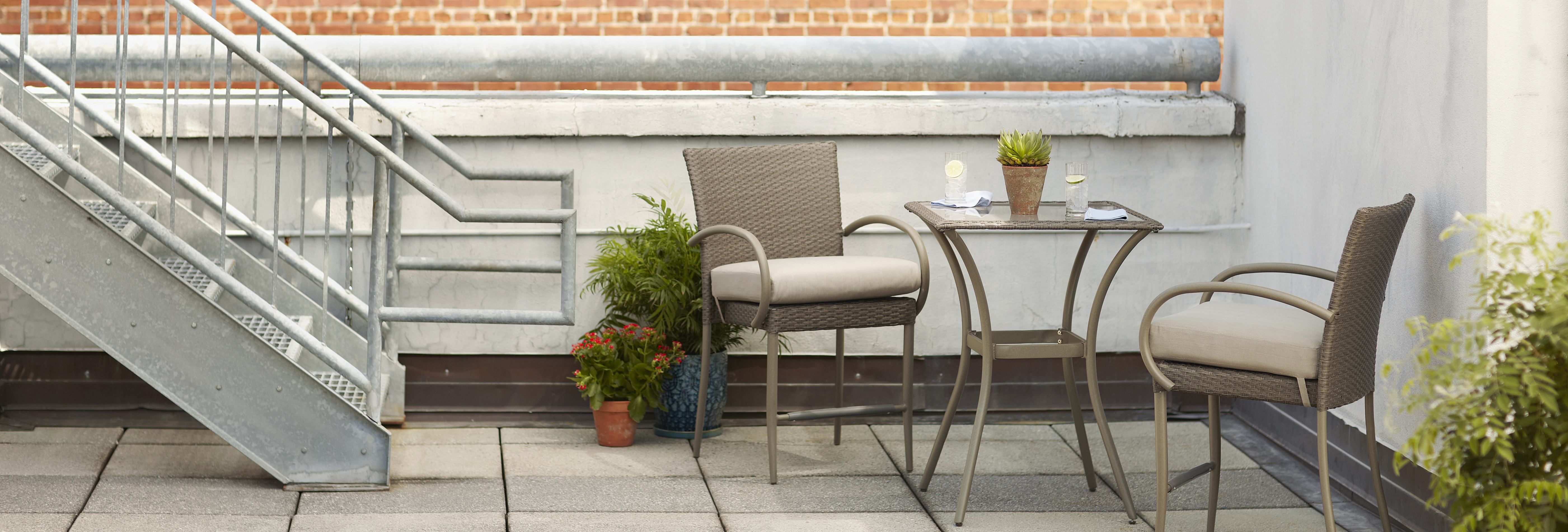 Posada 3 piece Balcony Bistro Set.  Available at The Home Depot and homedepot.com
