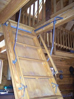 Pull Down Loft Ladder You Can Put This Out Of The Way During The Day And It S Easy To Climb Up And Down Unlike Attic Stairs Pull Down Attic Rooms Loft