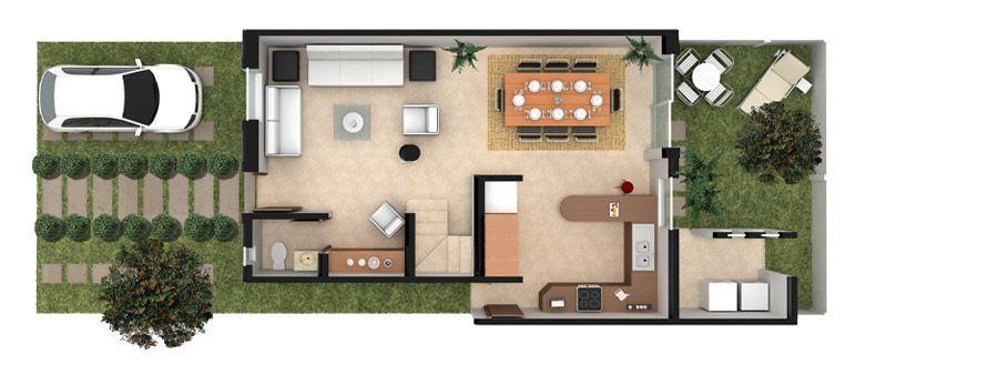 Planos de casas y plantas arquitect nicas de casas y - Distribucion casa ...