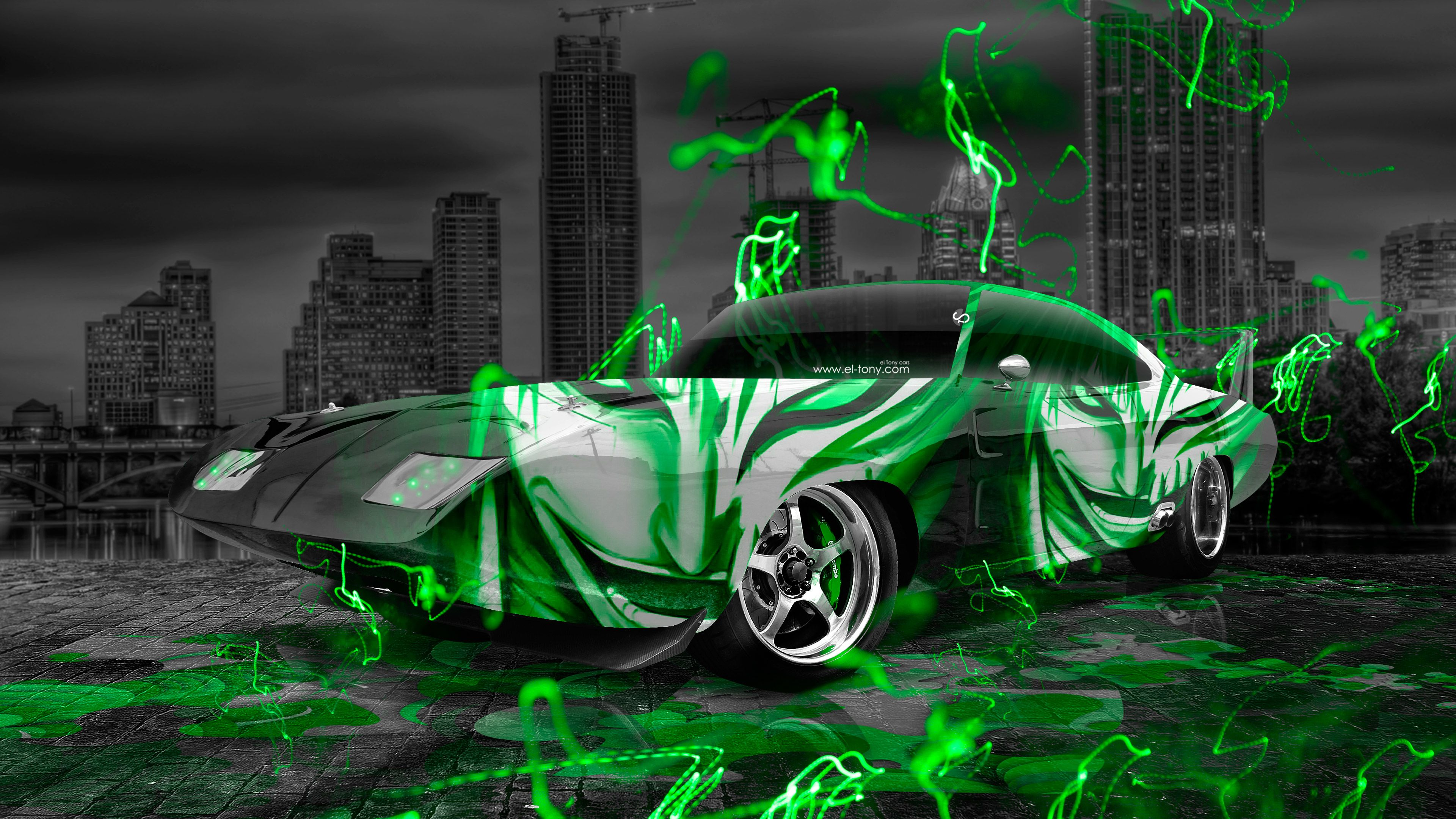 Superbe Dodge Charger Daytona Muscle Anime Bleach Aerography City