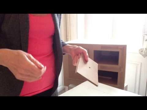 Video 14 Comment Fixer Une Equerre Sur Un Meuble En Carton Meuble En Carton Meubles En Carton Carton