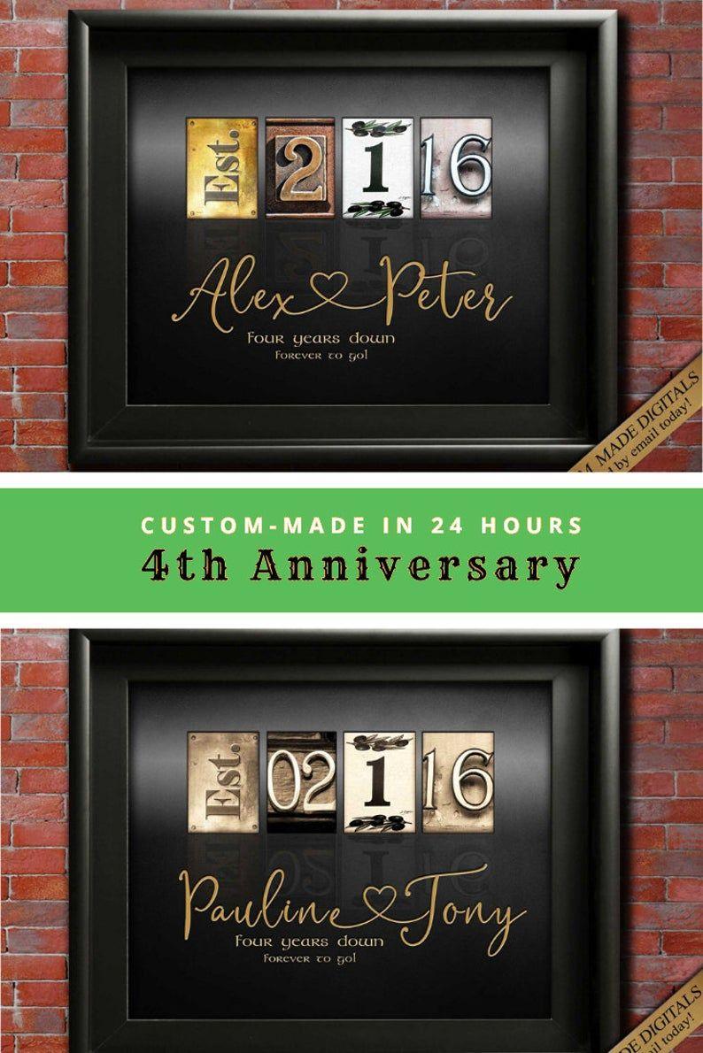 4th anniversary gift ideas fourth wedding anniversary