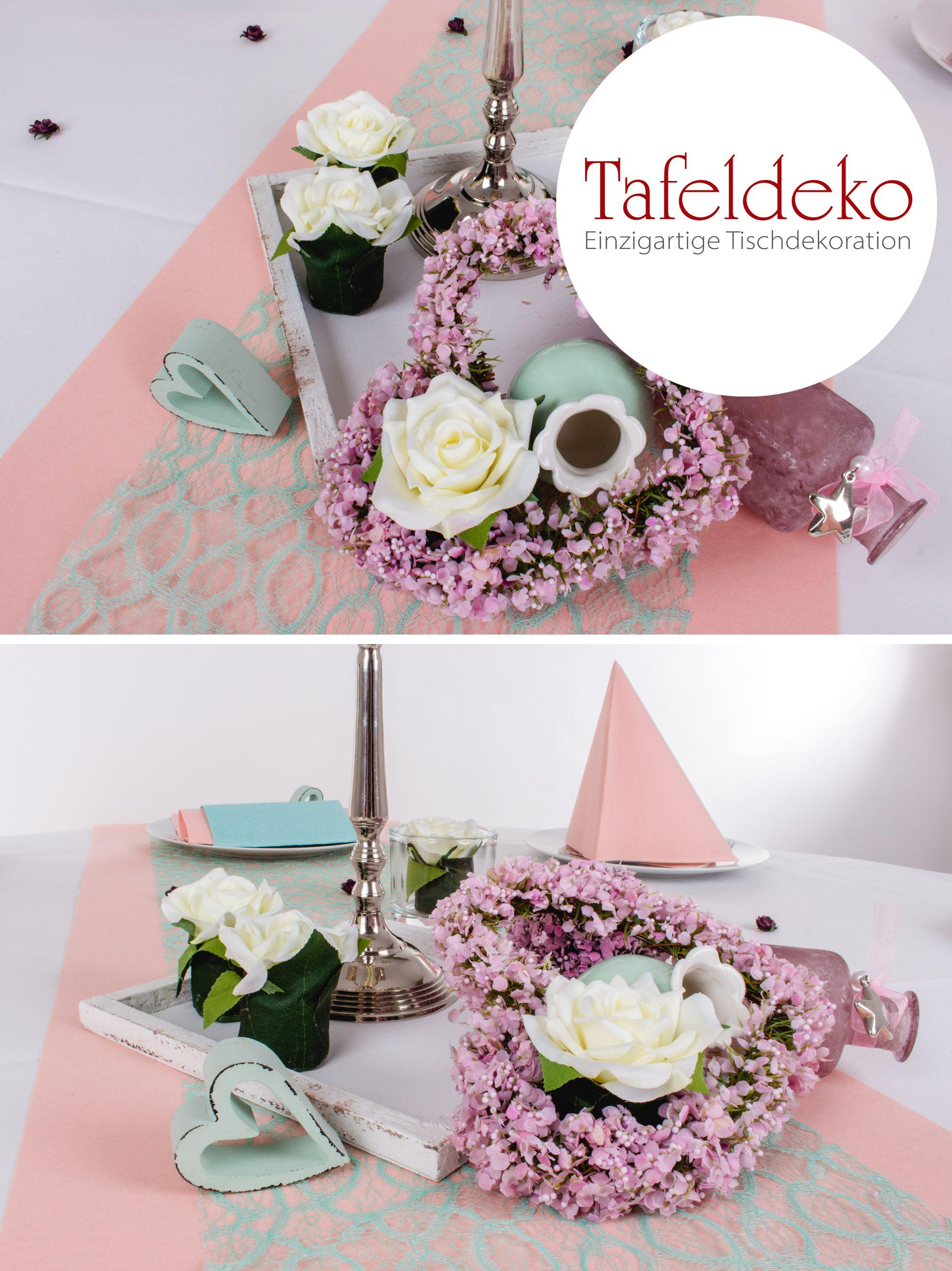 Romantische Hochzeit Tischdekoration In Den Pastellfarben Rosa Und
