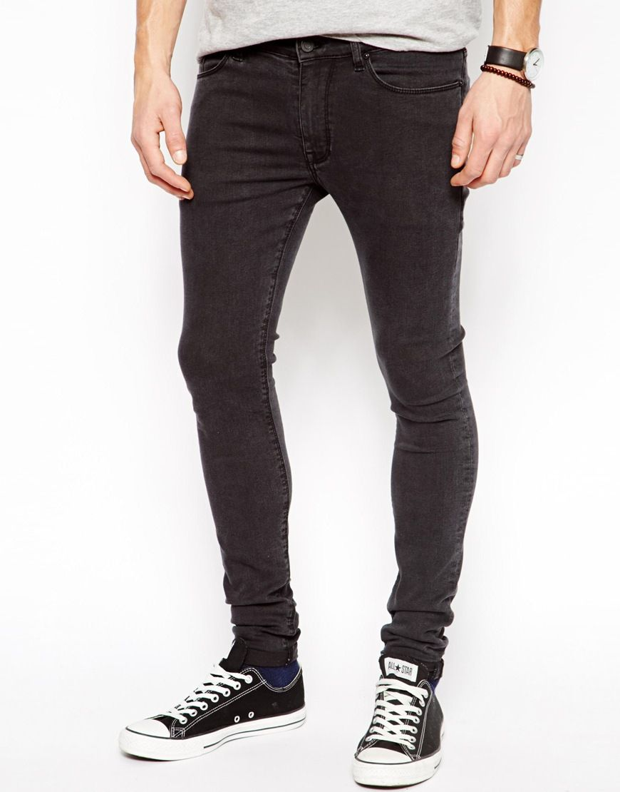 Faded Black Skinny Jeans Men - Jon Jean
