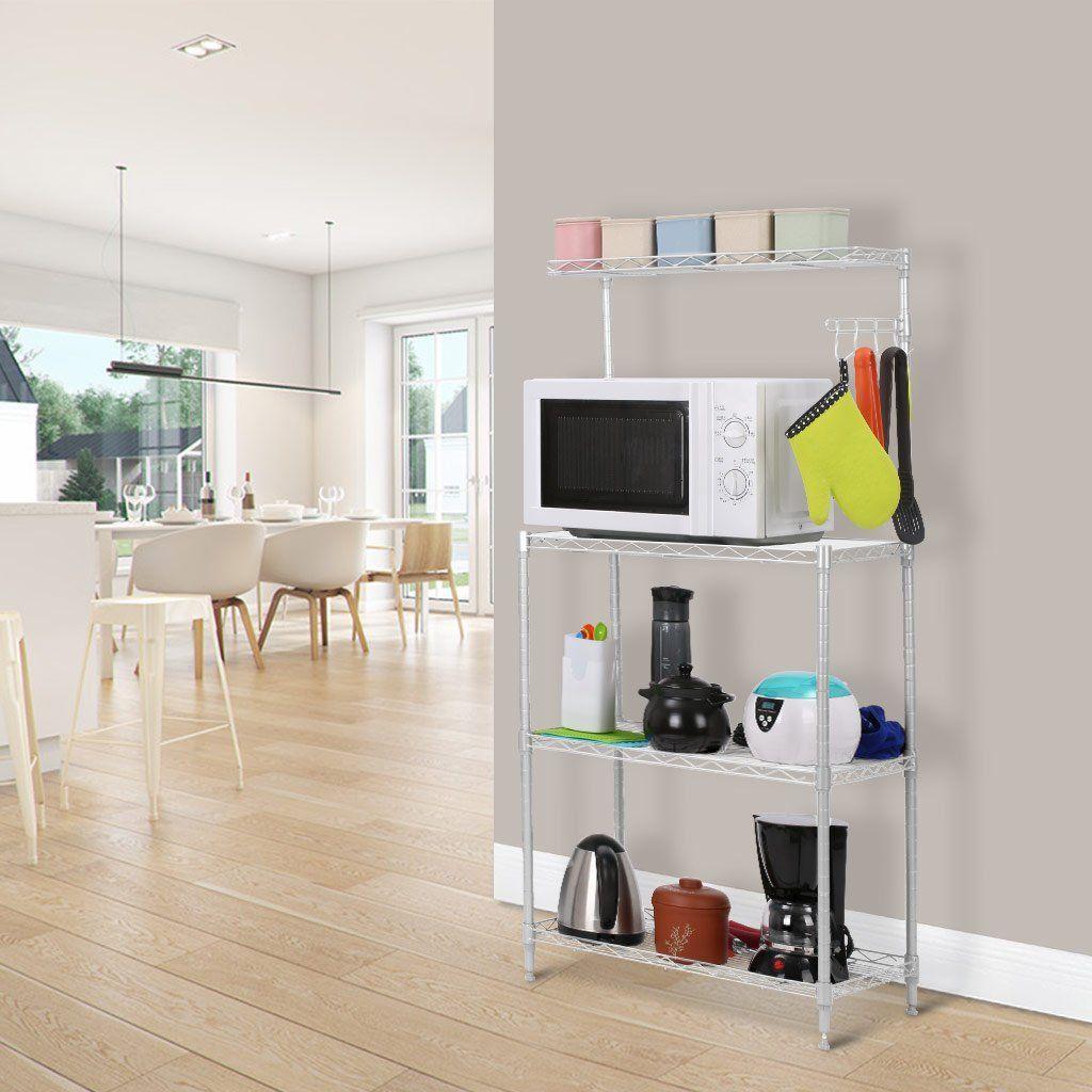 Amazon Com Langria 3 Tier Microwave Bakers Storage Rack With