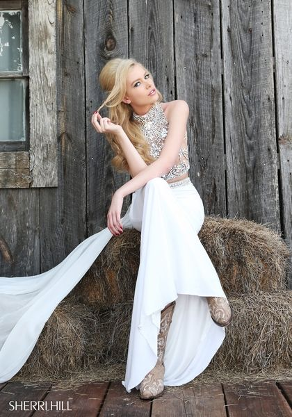 Sherri Hill Two Piece Wedding Gown Dress
