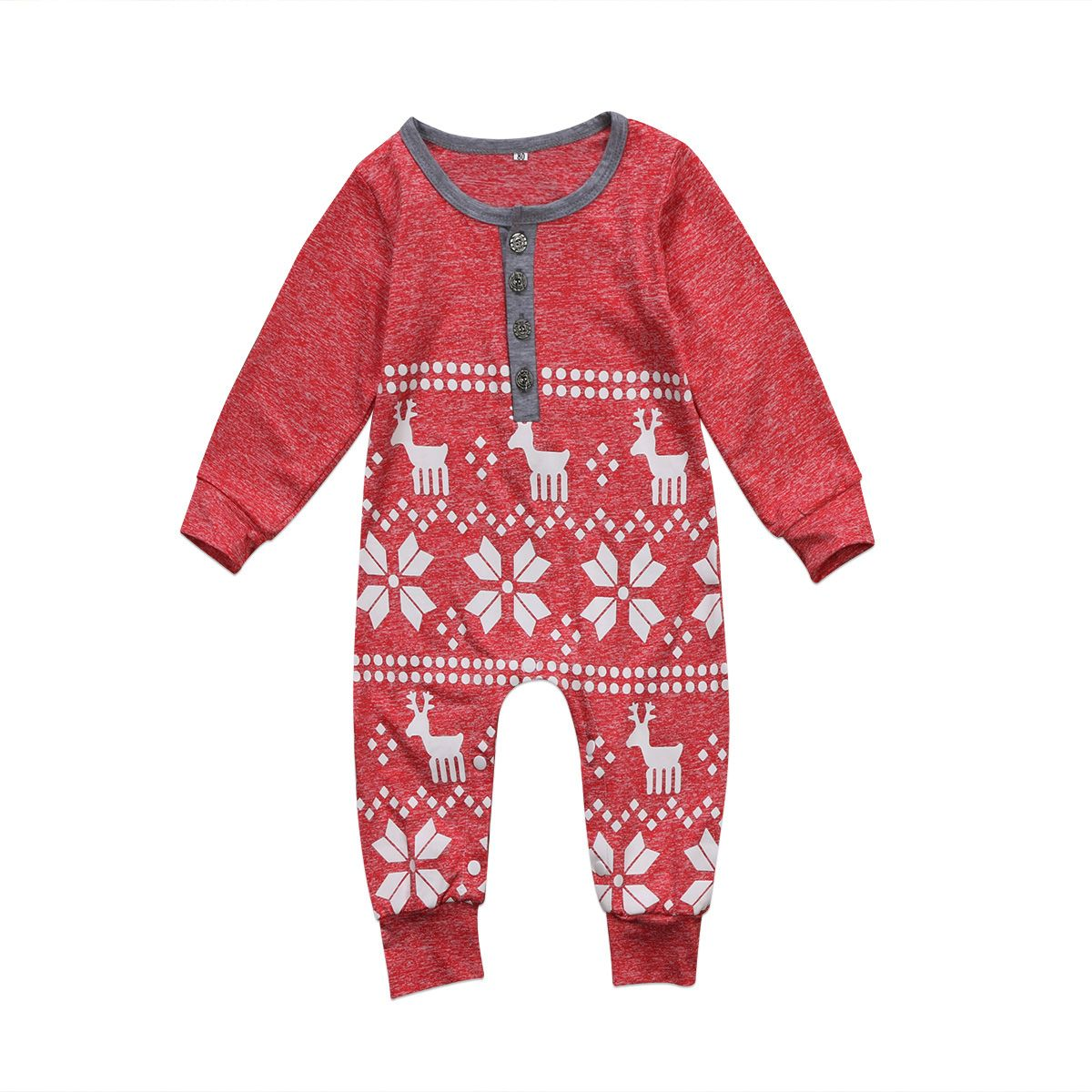 81a238ca7 XMAS Snowflake Newborn Baby Girl Top Outfit Clothes Romper Jumpsuit ...
