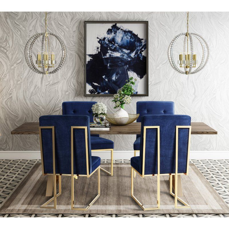 51 Luxury Living Rooms And Tips You Could Use From Them: TOV Furniture Leah Dining Table Set