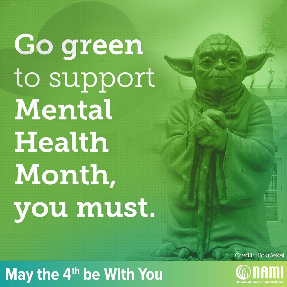 Go green to support Mental Health Month you must!