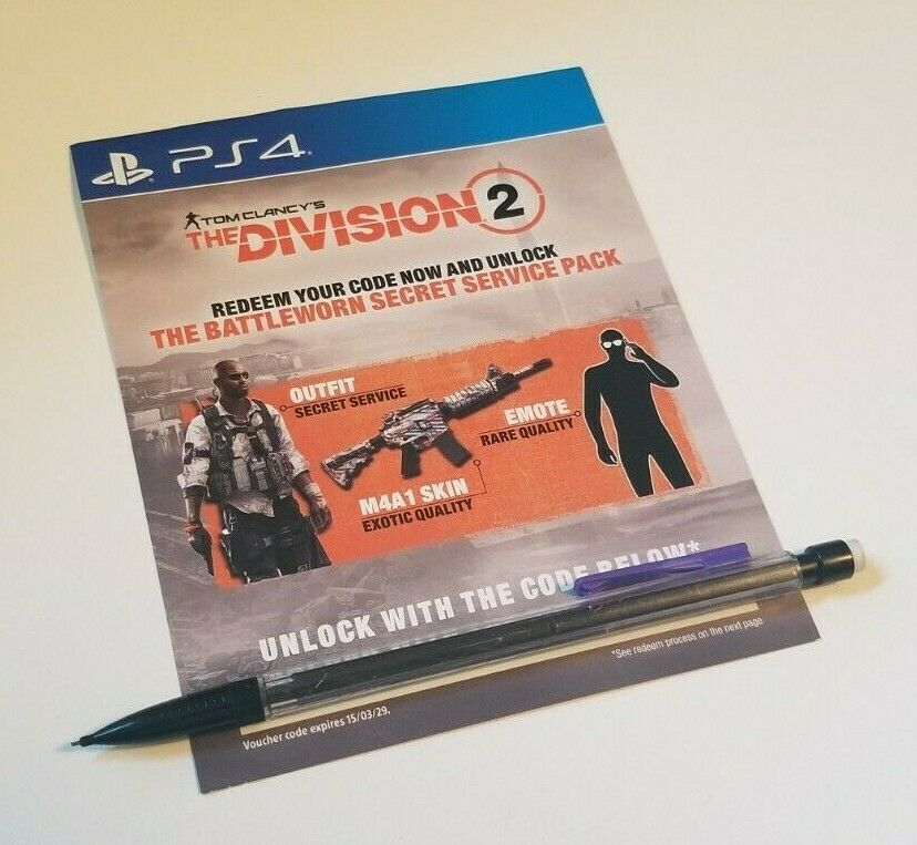 Prepaid Gaming Cards 156597: The Division 2 Secret Service