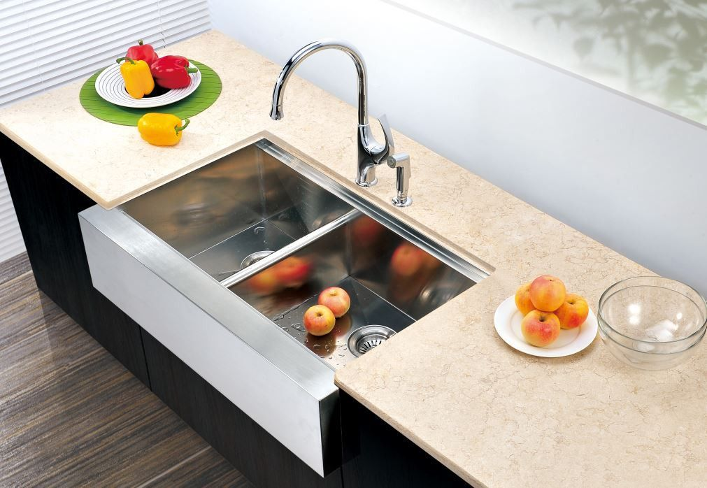 33 dawn stainless steel apron front farm sink daf3321l