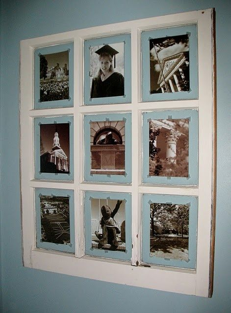 Ideas For Old Window Frames Old Window Picture Frame Diy