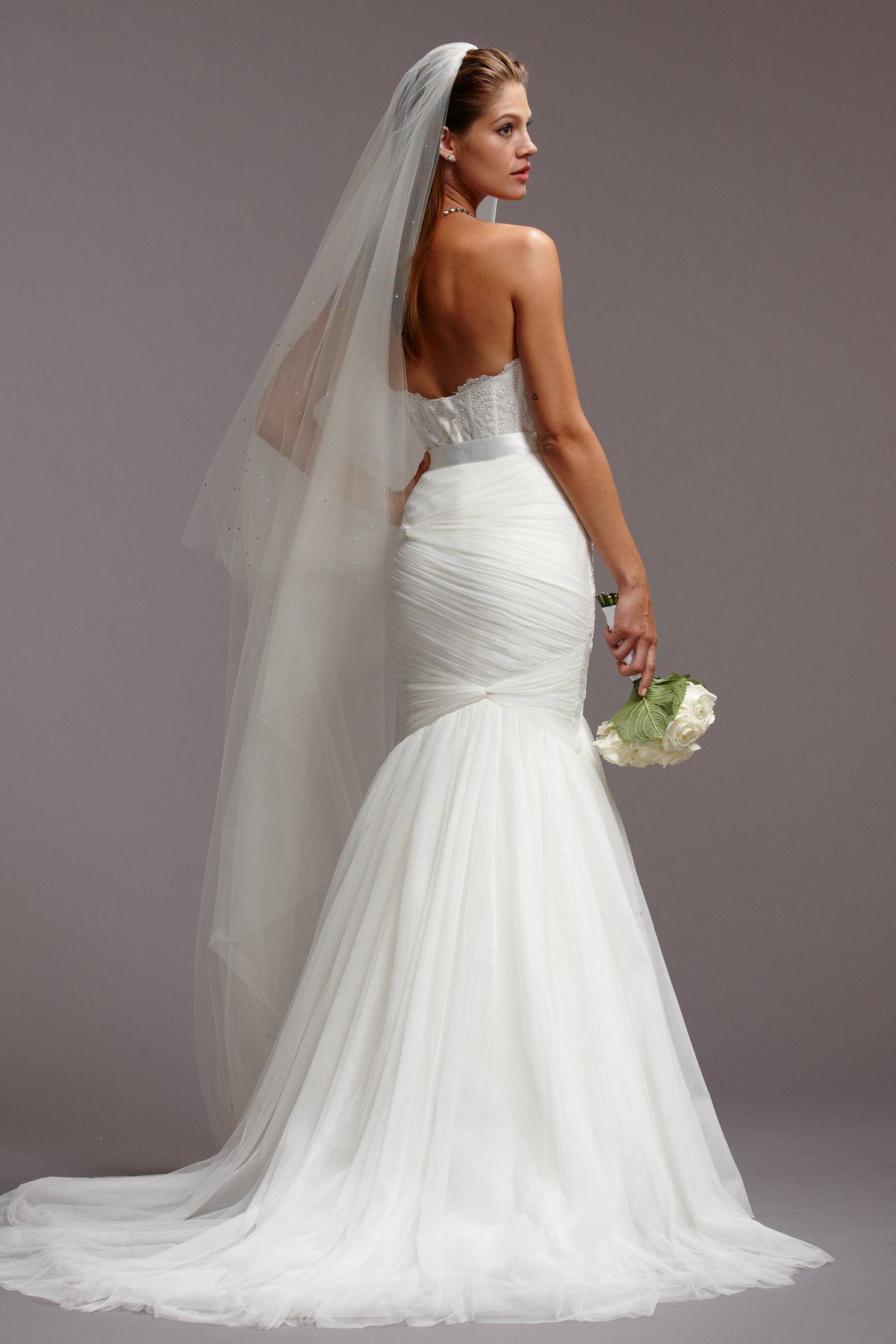 Back detail wedding dress  Watters  collection wedding dress  back detail  wedding attire