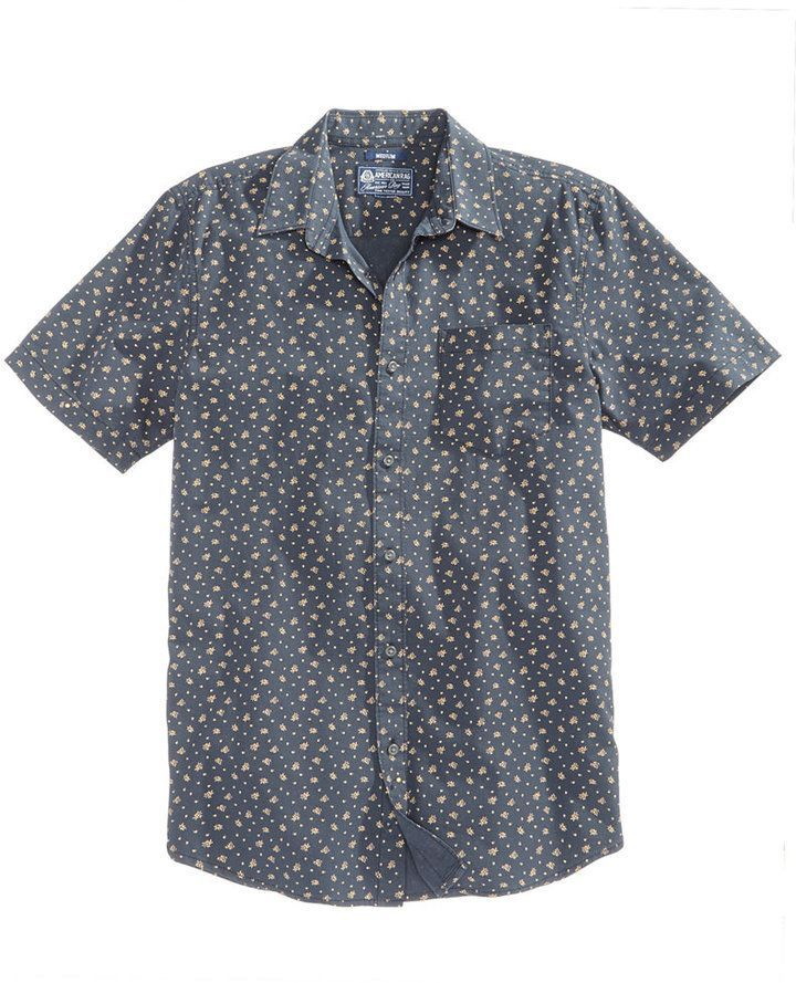 27ba6e309 American Rag Men's Ditsy Floral-Print Shirt, Created for Macy's ...