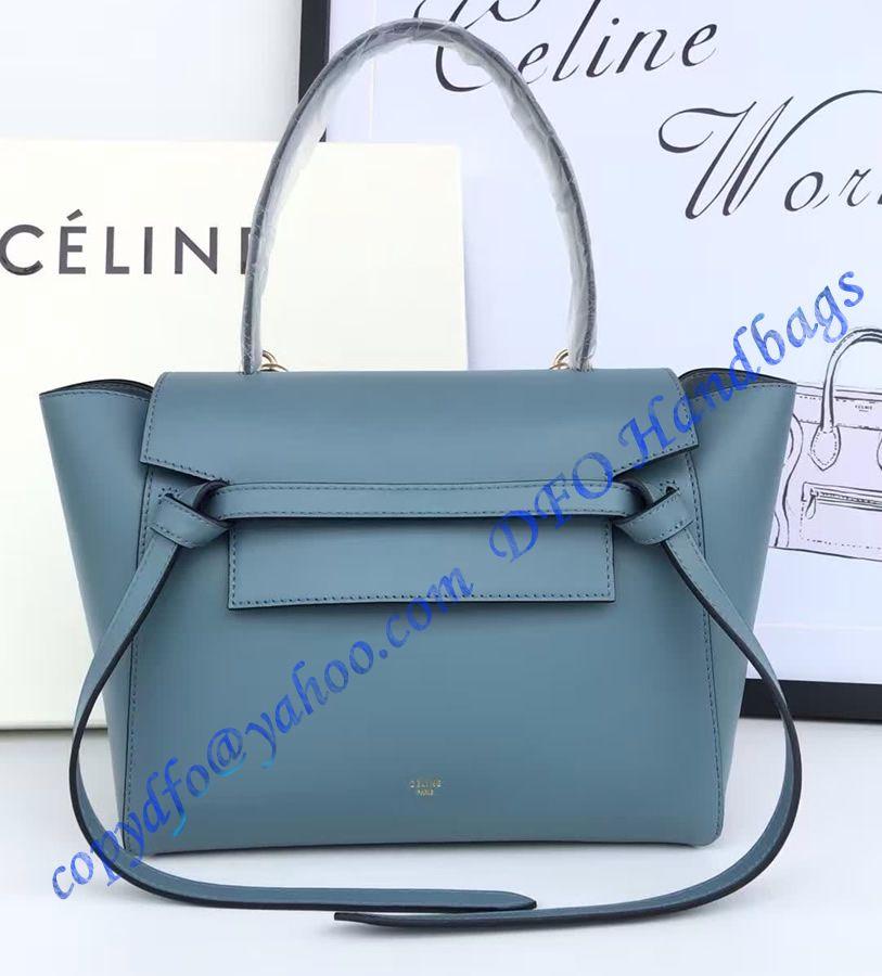 Celine Mini Belt Tote in Light Blue Smooth Calfskin      Luxury ... f1a4f8d96c