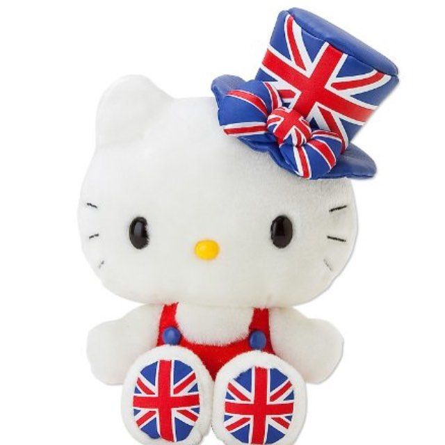 "54 Likes, 1 Comments - miki (@sanrio_loveee) on Instagram: ""Hello kitty Union Jack Plush #hellokitty #sanrio #hellokittycollaboration #hellokittyKawaii #sell"""
