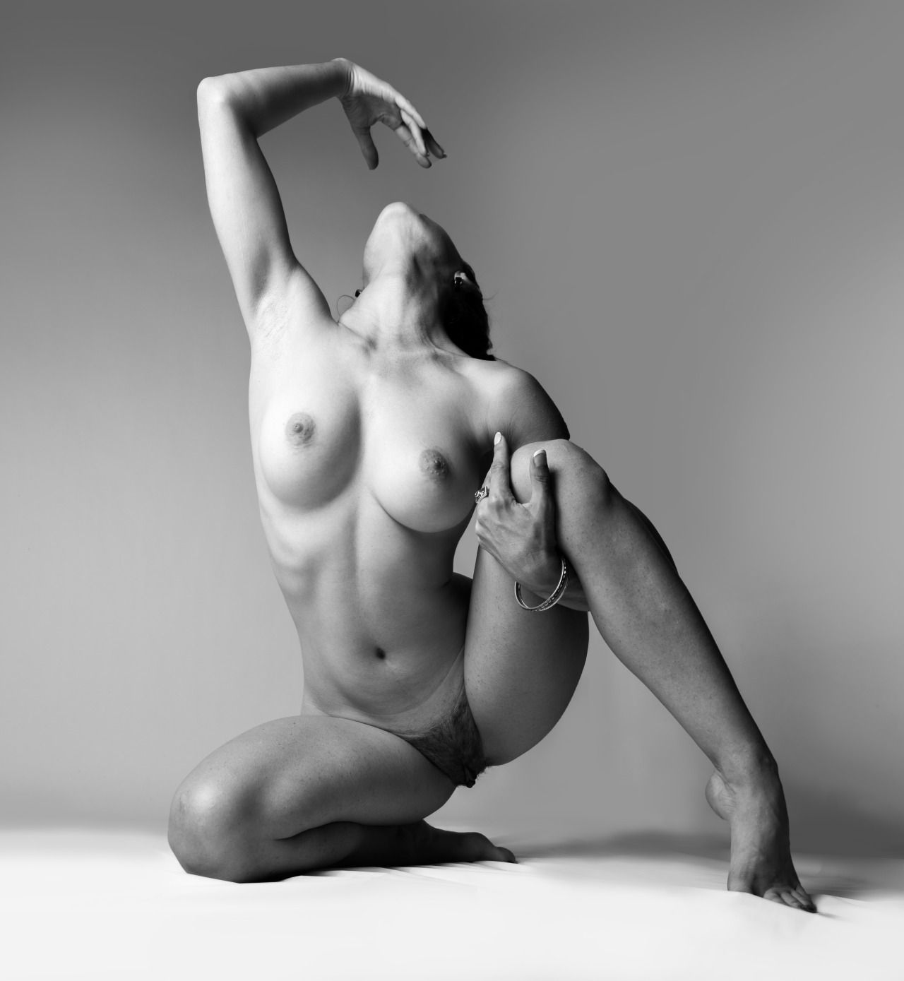 Just women naked pose