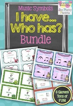 I Have, Who Has? Music Bundle {Includes 11 Games!} | Piano Teaching