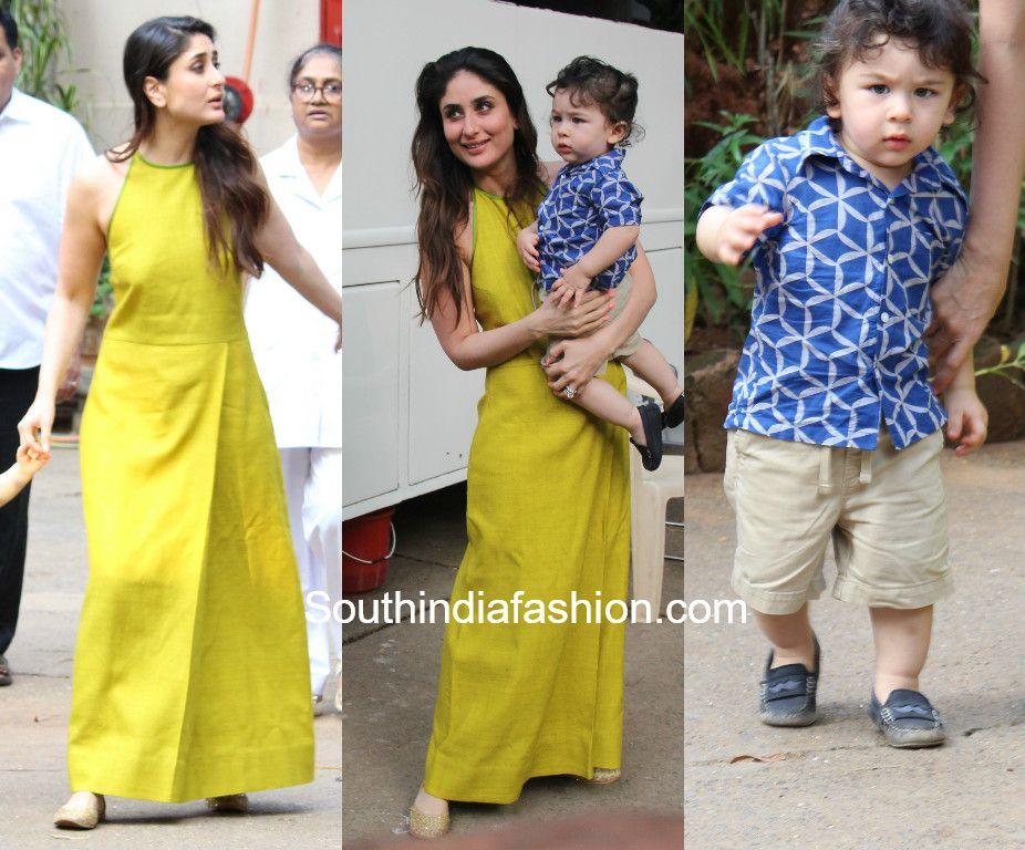 Kareena Kapoor Yellow Maxi Dress Payal Khandwala 600x498 Yellow Maxi Dress Maxi Dress Cotton Casual Gowns