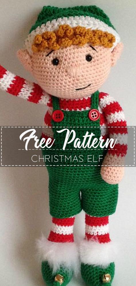 Christmas Elf – Pattern Free – Easy Crochet #grinchscarfcrochetpatternfree
