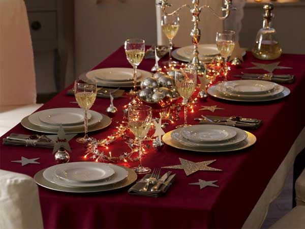 christmas decoration elegant table setting hollywood. Black Bedroom Furniture Sets. Home Design Ideas