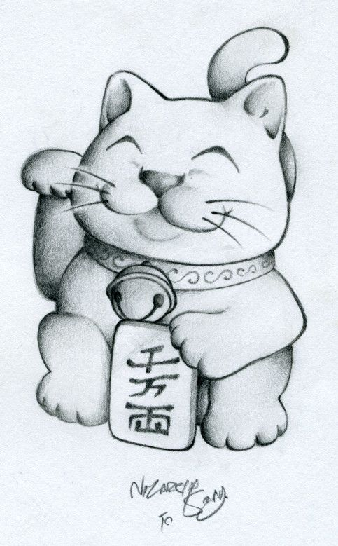 ManekiNeko-TatDesign by ~tattoosbynazareth on deviantART