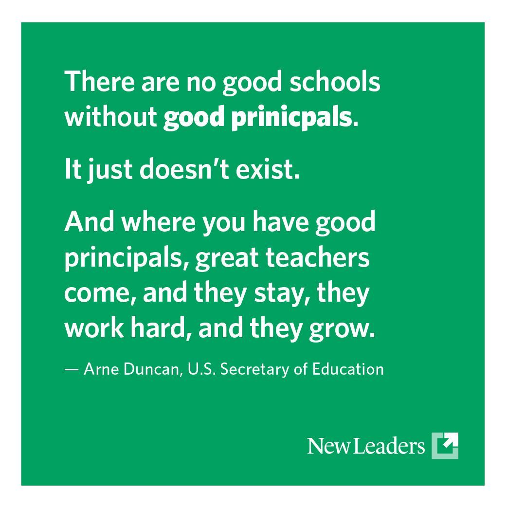Arne Duncan There Are No Good Schools Without Good Principals