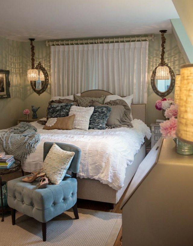 d coration de la chambre romantique 55 id es shabby chic idees chambres shabby pinterest. Black Bedroom Furniture Sets. Home Design Ideas
