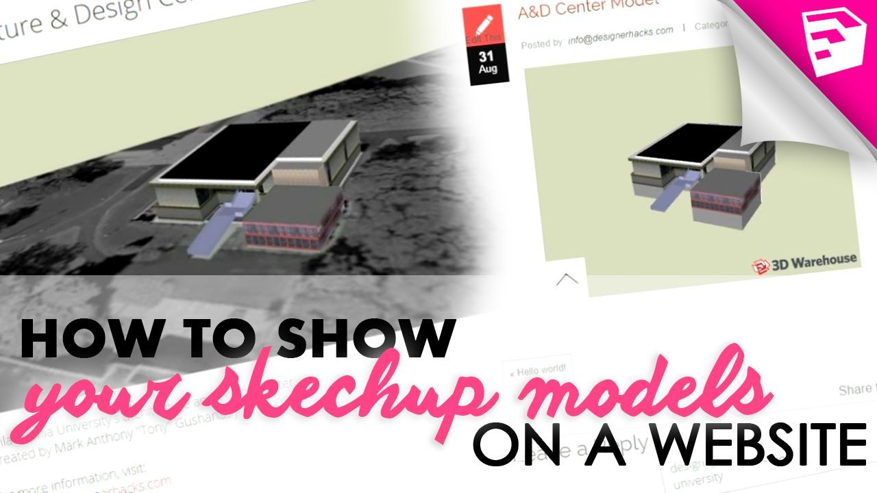 How To Put Sketchup Models From The 3d Warehouse Onto Your