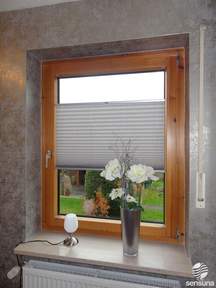 Sensuna Plissees Am Holzfenster Nach Maß Gefertigt