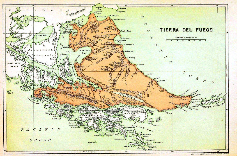 Fonda Argentina Conociendo Argentina Tierra Del Fuego Parte I - Argentina map tierra del fuego