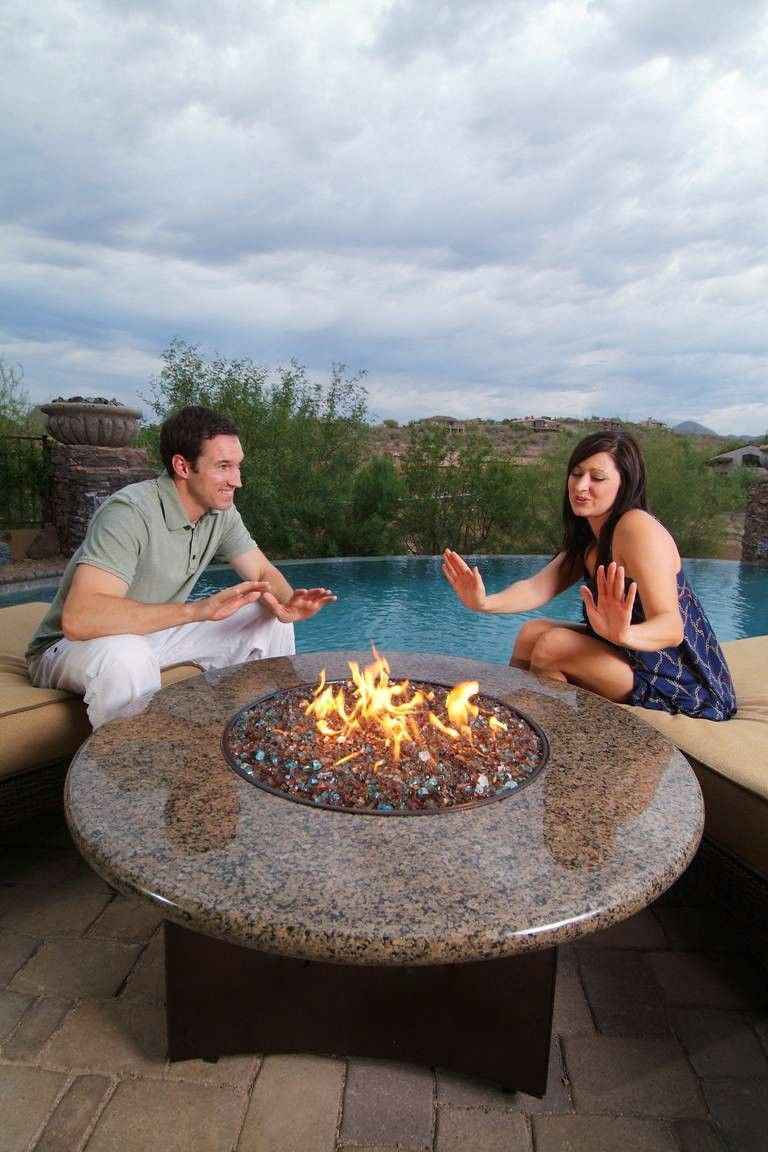 Oriflamme Gas Fire Pit Table Tropical Elegance Fire Pit Table