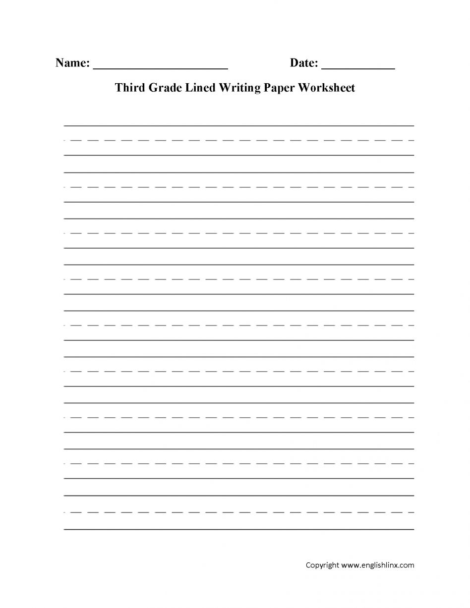 Writing Worksheets Lined Paper For Pics Template Printable With Regard To Lined Paper With Writ Writing Worksheets Third Grade Writing Handwriting Worksheets