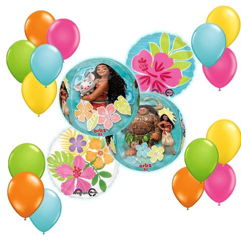 Disney Moana Balloon Bouquet Decoration Kit19pc | Party ...