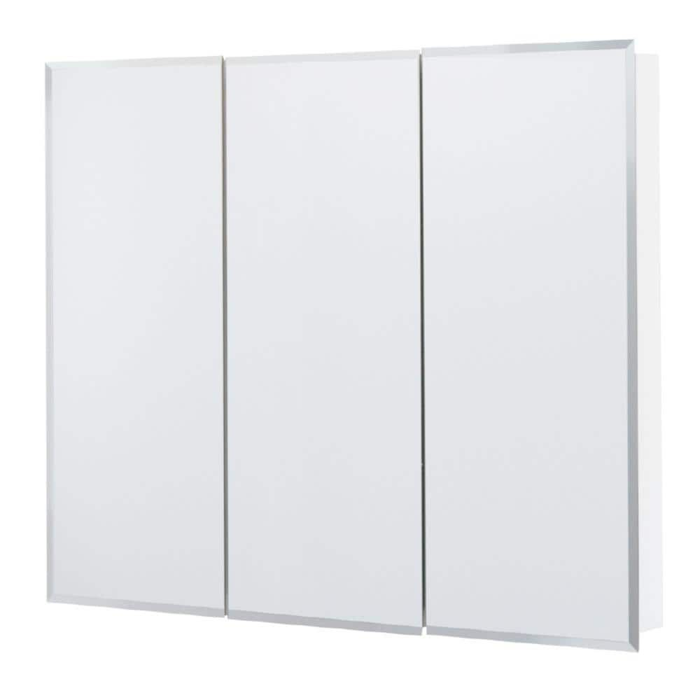 Style Selections 36 25 In X 29 75 In Surface White Mirrored Rectangle Medicine Cabin In 2021 Medicine Cabinet Mirror Surface Mount Medicine Cabinet Adjustable Shelving