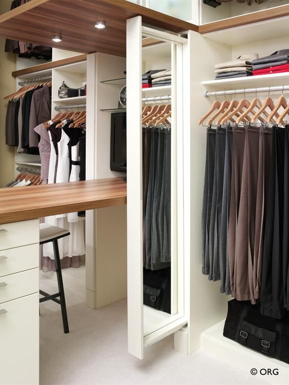 Forterra Closet Pull Out Mirror Provided By Organized Spaces, Inc  Kirkland 98033