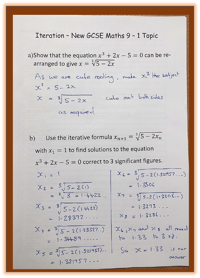 How To Use Iteration In The New Gcse 9 1 Maths Exam Gcse Math Math Gcse Maths Revision