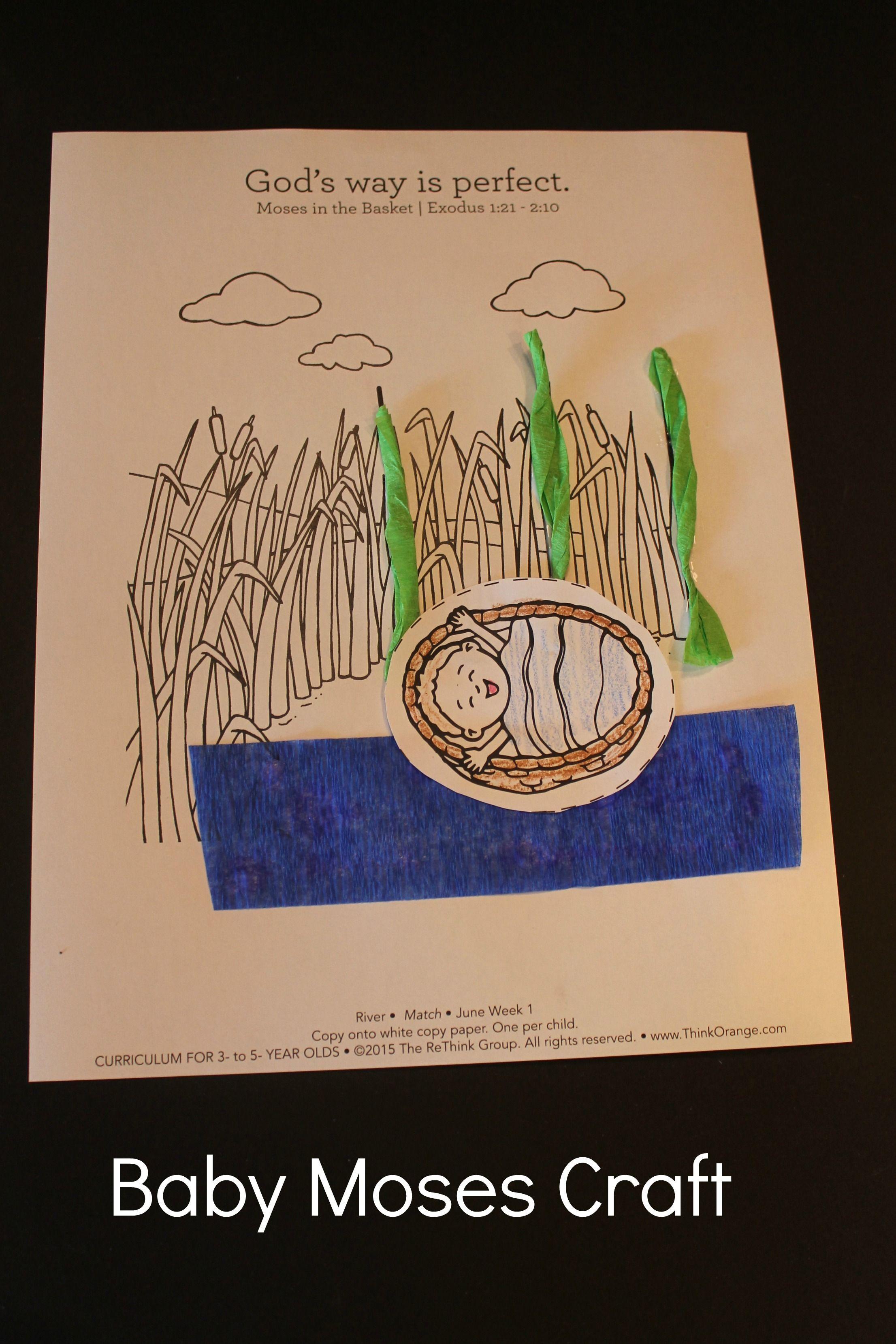 Example Baby Moses Craft 3 5s Week 1 July 2015 Camp Splish