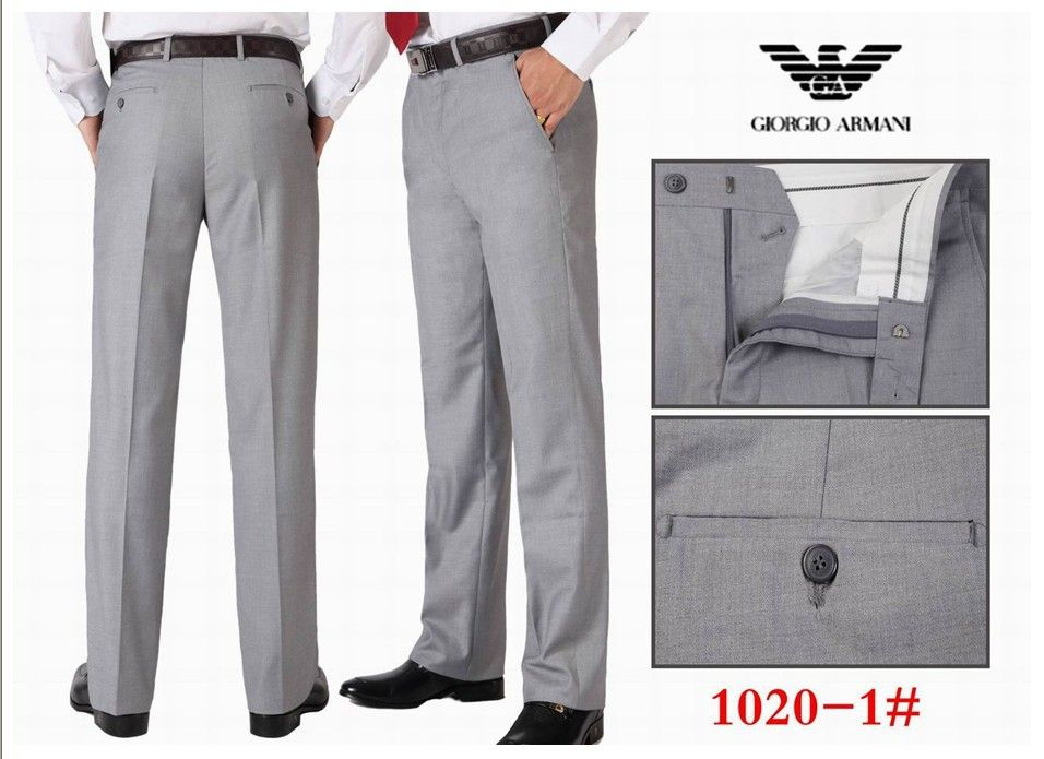 Stylish-Men-Dress-Pants-brand-Silver-Slim-Fit-Wool-Suit-Pants ...