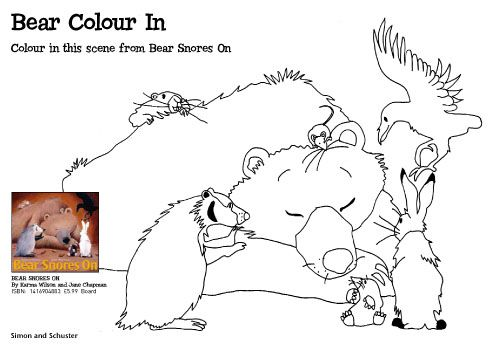 Bear Snores On Coloring Page Hibernation Theme Bear Snoring