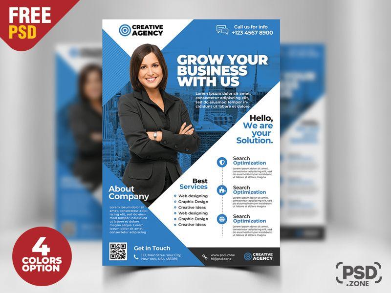 Corporate Business Flyer Free PSD Set Entreprise