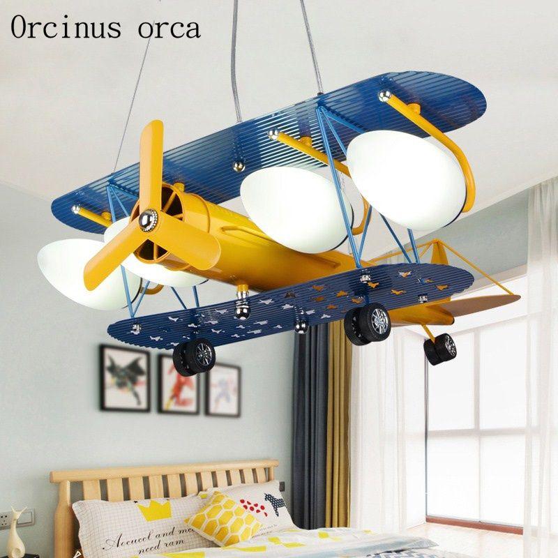 Creative Retro Enfants Avion De Lampe Enfants De Lustre Chambre