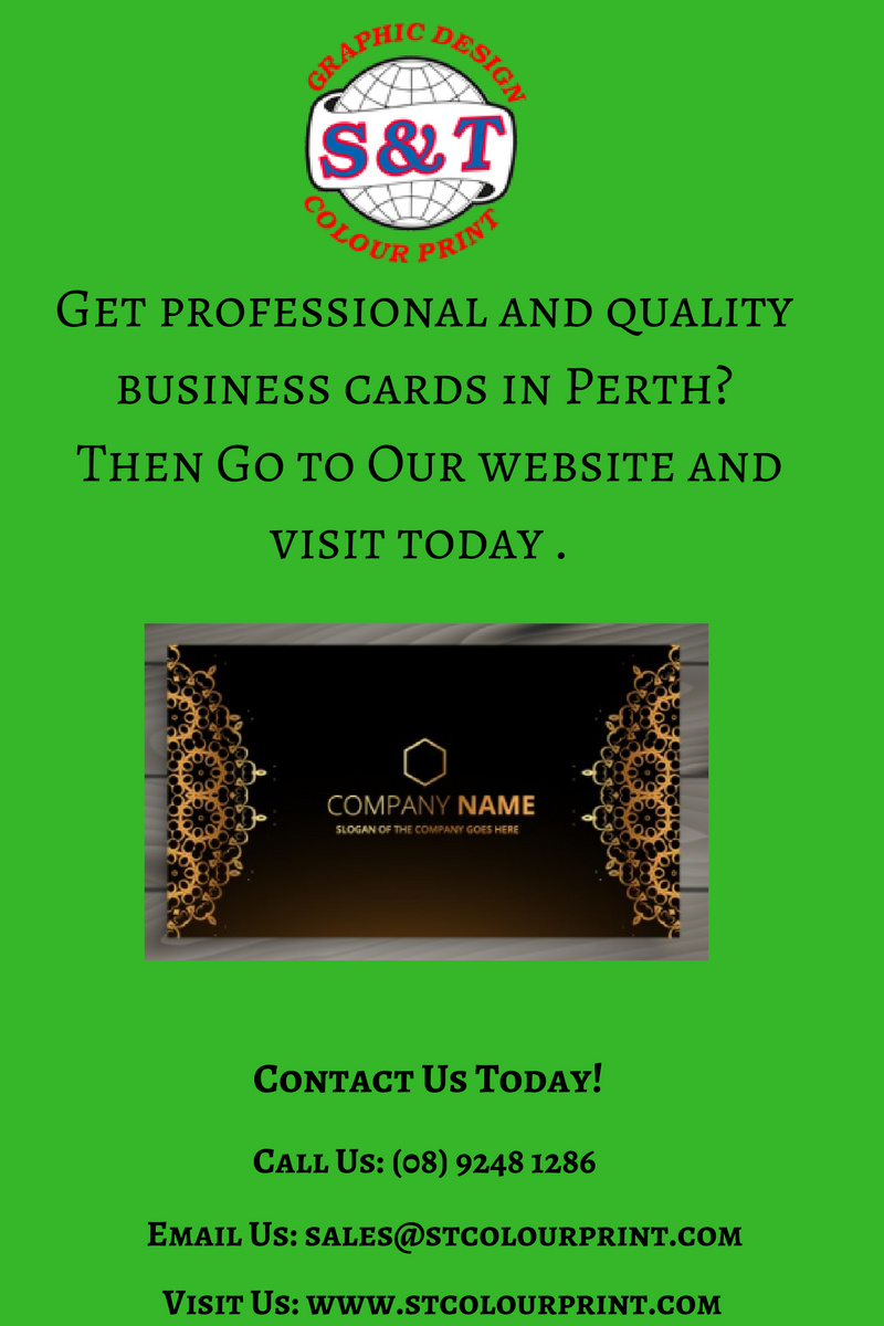 S&T is providing professional and high quality business cards in ...