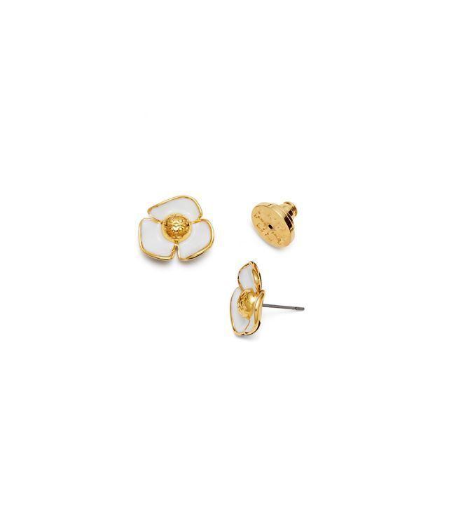 60년대 자메이카의 매력적인 휴양 분위기를 담아 낸 플뢰르 스터드 이어링입니다. 황동으로 조각한 플라워를 광택 있는 에나멜로 코팅, 더블 T 로고를 중앙에 장식했습니다. 캐주얼 룩, 드레시 룩 모두 잘 어울리며 매력적으로 연출할 수 있습니다. 피어싱된 귀에 맞도록 제작되었습니다.  • 침 귀걸이 • 더블 T 로고 • 황동, 에나멜