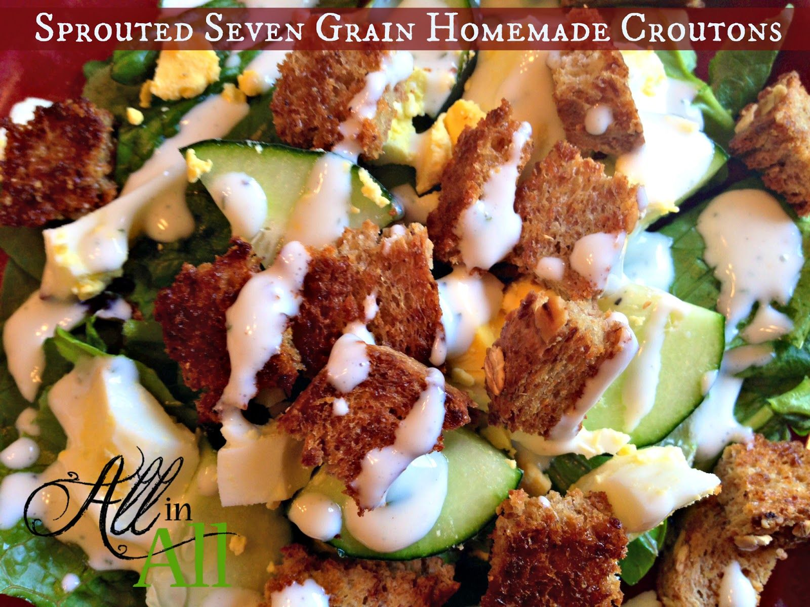 Sprouted Seven Grain Homemade Croutons