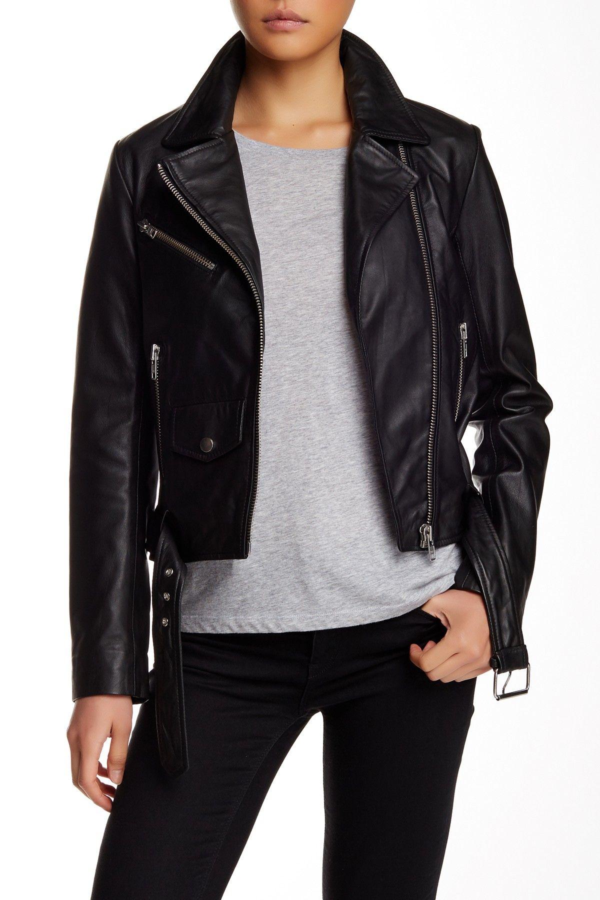 Walter Baker Andy Genuine Leather Moto Jacket Jackets