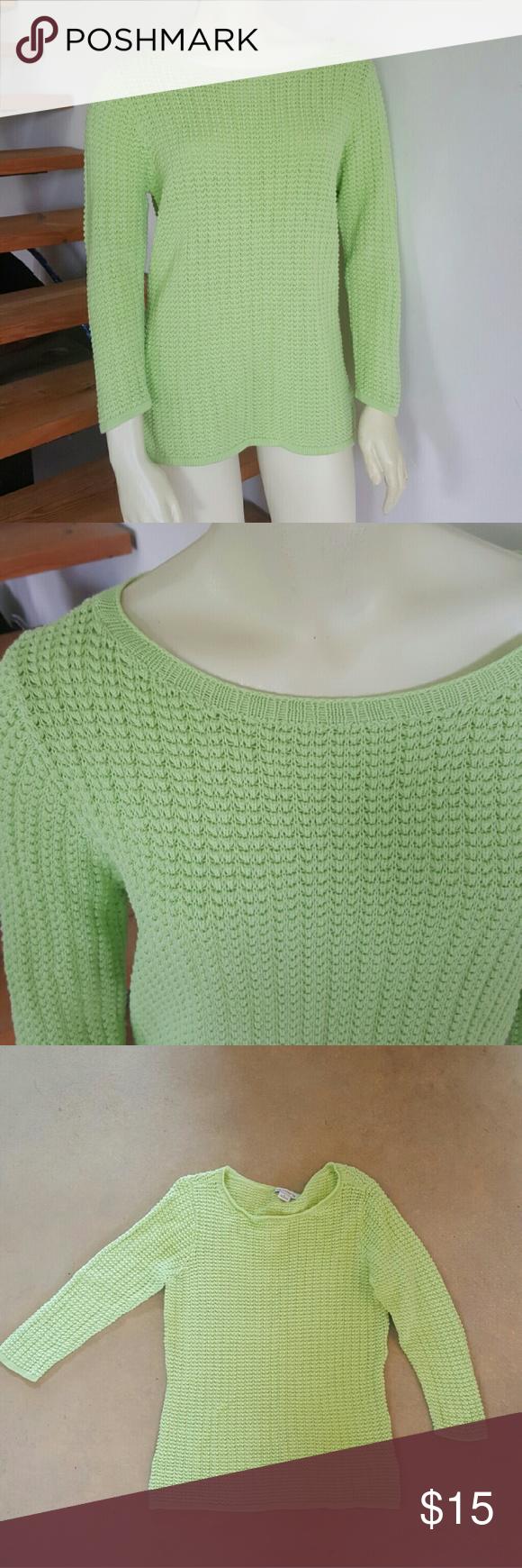 Liz Claiborne 100% cotton  44 bust  27 length  21 sleeve Liz Claiborne Sweaters